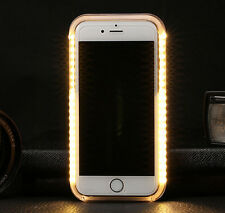 LED Selfie Light Up Case with Power Bank External Battery Cover Gold iPhone 6 S