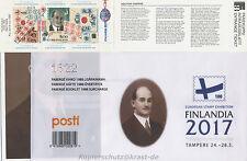 FINNLAND - FINLANDIA 2017 MARKENHEFT FABERGE 2525 ÜBERDRUCK - BOOKLET SURCHARGE