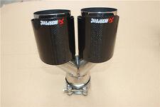 Akrapovic Exhaust Glossy Carbon Fiber Universal Dual Exhaust Tip ID63mm OD:101mm
