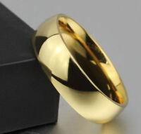 Alianza sencilla con oro amarillo laminado 18 kt talla 8 usa