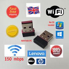 Lote de 5x Usb Wifi 150 Mbps Wireless Adapter Dongle LAN 802.11/b/g/n 2.4Ghz Desktop