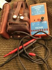 Etcon Lt130 Orange Lamp Amp Voltage Tester Vintage Leather Case Made In Usa Tool