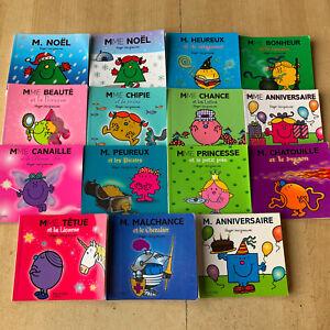 LOT 15 livres Monsieur Madame / bonhommes - collection paillettes