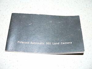 Original Vintage Polaroid Automatic 100 Camera Instruction Manual~VG Condition
