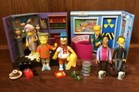 Simpsons WOS Playmates Figures Playsets Accessories Lot Power Plant Burns Manor