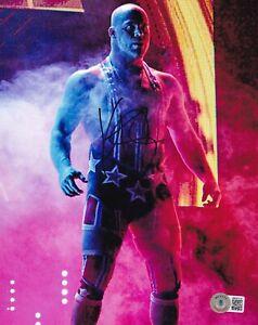 BECKETT KURT ANGLE SIGNED 8x10 PHOTO BB40118 WWF-WWE-AEW-TNA-ECW-IMPACT-WCW-ROH