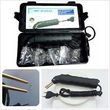 Hot Stapler Bumper Fender Fairing Weld Gun Plastic Repair Kit w/ 500 Hot Staples