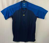 Adidas Climalite Keeps You Dry Blue Short Sleeve Training Running Shirt Men's L