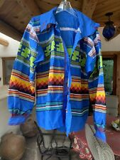 Native American Men's Seminole Miccusukee Patchwork Jacket XL Or XXl Worn Twice
