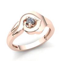 0.60carat Round Cut Diamond Women's Bridal Solitaire Engagement Ring 14K Gold