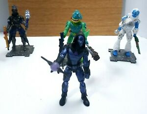 Fortnite 4 Inch Figure Bundle x 4 Trog Moisty Merman Omen Ravage With Weapons