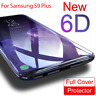 6D Samsung Galaxy S8 S9 Plus Note 8 Screen Protector Full Cover Tempered Glass