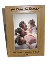 MOM & DAD in legno Photo Frame 6x8-personalizzare questo riquadro-libera engrav
