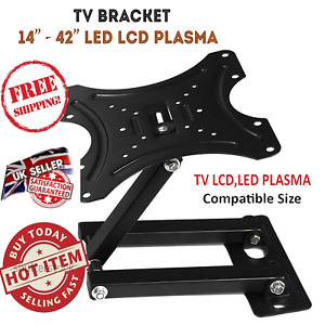 "TV Bracket Wall Mount 14"" to 42"" Tilt & Swivel  QUALITY PRODUCT UK FITTINGS"