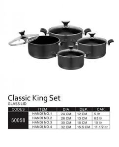 CLASSIC KING SET – GLASS LID