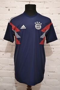Bayern Munich Adidas Mens 2018 2019 Home Pre-Match Shirt CW5818 Navy Size M