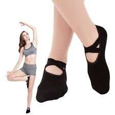 Women Yoga Socks Non Skid Socks with Grips Slipper Straps Socks Pilates Ballet
