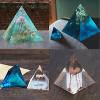 6pcs Pyramid Shape Silicone Mold Resin Casting Jewelry Making Craft Mould