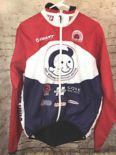 Louis Garneau Cycling Jacket Sz M Windbreaker Flagstaff AZ Flag Velo Red Black