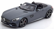NOREV 2017 Mercedes AMG GT C Roadster Matt Grey Metallic Dealer 1:18*NEW*RARE!!