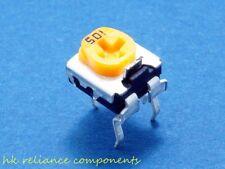 10, 50K OHM Panasonic EVND 6FE Trimmer Potentiometers Top-adjust Trimpots