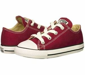 Converse All Star Low Chucks Infant Toddler Maroon Shoes 748596F Free Shipping