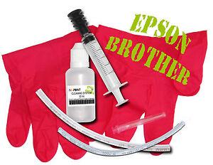 kit nettoyant nettoyage imprimante têtes d'impression special EPSON / BROTHER