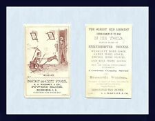 NEW YORK ROCHESTER ADVERTISING TRADE CARD S.A. McKENNY 99 CENT STORE CRICA 1885