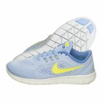 Nike Free RN Girls GS Light Blue Electro Lime 833993-403 size 4.5 Youth Running