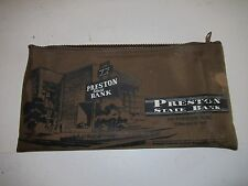 VINTAGE PRESTON STATE BANK OF DALLAS MONEY BAG HOLDER - SEE PICS - TUB BMA