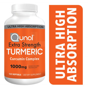 QUNOL EXTRA STRENGTH TURMERIC 1000MG 120 SOFTGELS NEW 06/2023