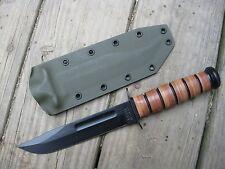 Valhalla Custom Kydex Sheath Ka-Bar 1217 USMC Kydex OD GREEN SHEATH ONLY