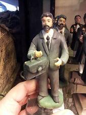1 statuetta CM TERRACOTTA geometra ragioniere pastori presepe shepherds crib