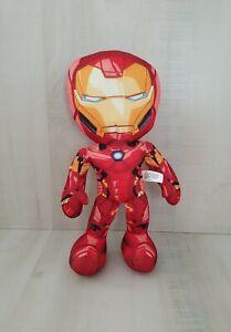 "Marvel Avengers  Iron Man 13"" Tall Spanish Speaking plush press the Left hand"