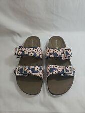 Women's Madden Girl Brando R Molded Footbed Slide Sandals Flower 7.5M