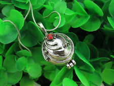 Vampire Diaries Elena Gilbert Vervain Pendant Necklace Silver Red Crystal Charms