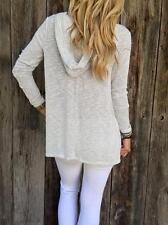 Fashion Womens Long Sleeve Shirt Casual Blended Blouse Loose Tops Shirt M