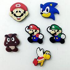 Boy Gift 6pcs PVC Fridge Magnet Super Mario Bros Magnetic Sticker Home Decor