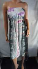 NEW! Hard Tail Forever tie dye tube summer dress high low women's [SZ:L] #B349