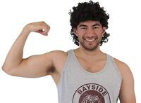 Adult TV Show Saved by the Bell AC Slater Curley Afro Sports Jock Costume Wig