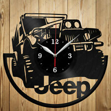 Vinyl Clock Jeep Car Handmade Vinyl Clock Art Home Decor Original Gift
