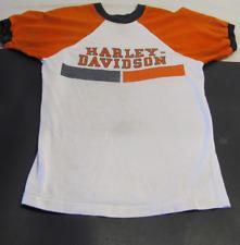 Vintage 1970s Harley Davidson Champion Blue Bar Shirt-- Rare!