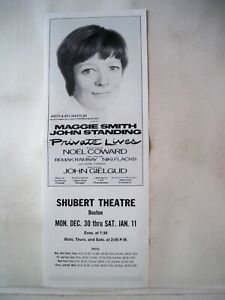 PRIVATE LIVES Herald MAGGIE SMITH / JOHN STANDING Tryout BOSTON MA 1974