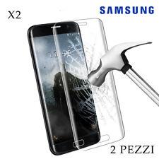 Pellicola Vetro Temperato per Samsung S6-S7-S8-S9-PLUS-EDGE- J3-J5-J7 [2 PEZZI]