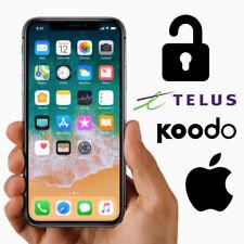 UNLOCK SERVICE IPHONE  4 4S 5S 6 6S+ 7 8 X TELUS ROGERS FIDO KOODO CANADA