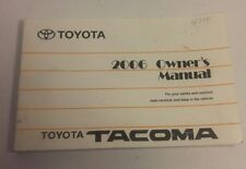 Toyota Tacoma 2006 Owner's Manual Soft Cover