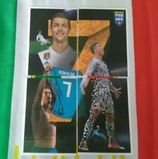 Fifa 365 2017 2018 panini figurine poster in tessuto  CR. RONALDO n 8*9*10*11