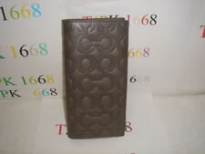 NWT COACH~Gray~Signature Embossed MOL Breast Pocket Wallet 74183