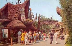 Disneyland Adventureland United Airline Tiki Room Vintage Postcard AA40243