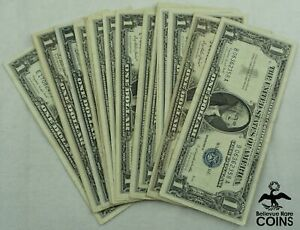 Lot of 24: Series 1935 & 1957 USA $1 Blue Seal Silver Certificates Assorted Note